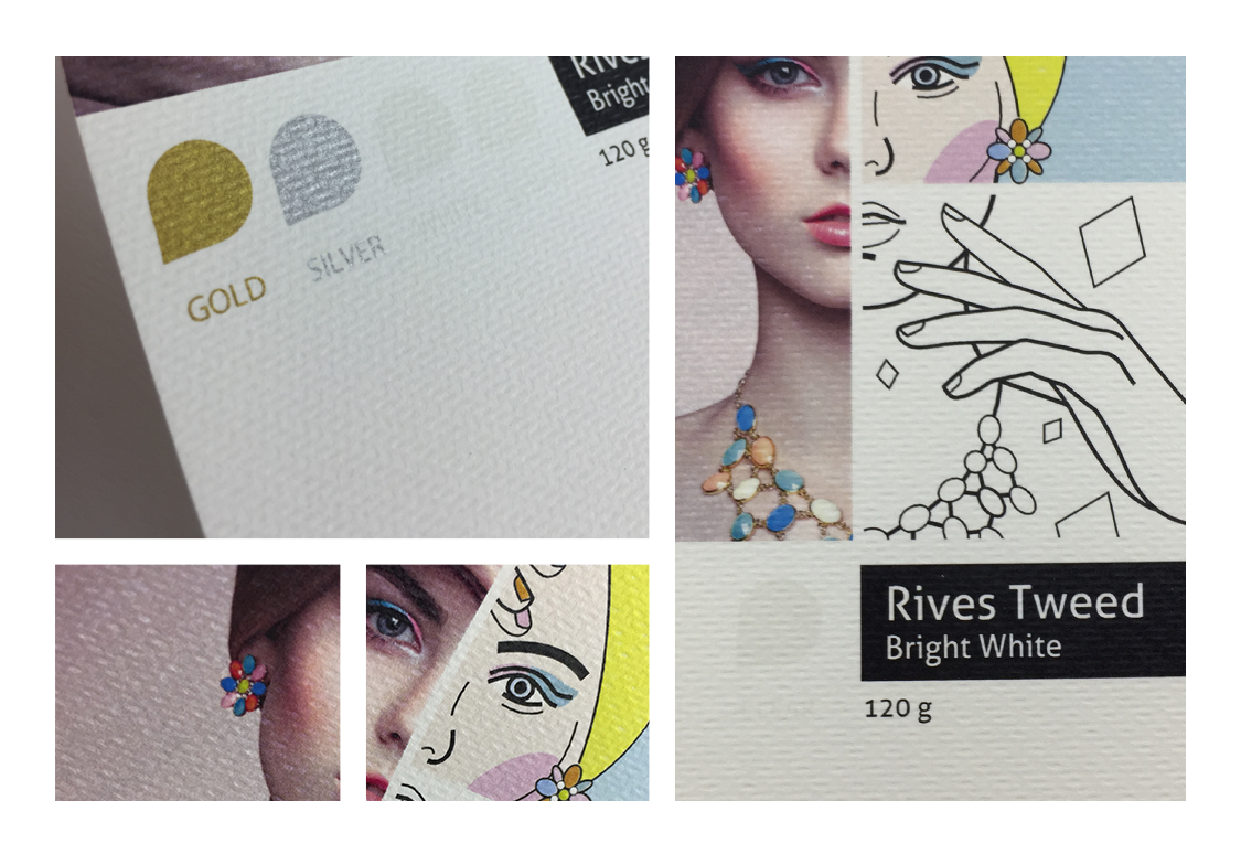 Rives Tweed Bright White 120 g
